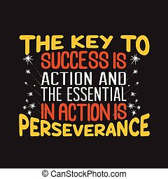 Success Quote and Saying good for print design.