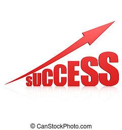 Success red arrow