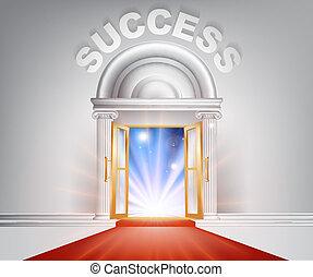Success red Carpet Door