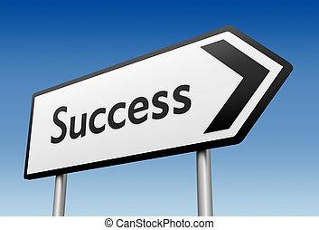 success road sign 3d illustration