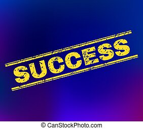SUCCESS Scratched Stamp Seal on Gradient Background