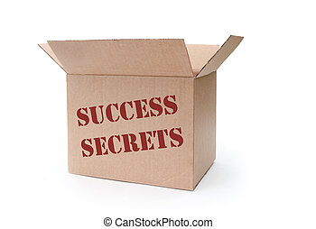 Success secrets - Box full of 'secrets' of success