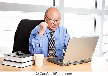Success senior asian businessman