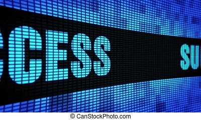 Success Side Text Scrolling LED Wall Pannel Display Sign...