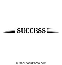 SUCCESS sign on white background