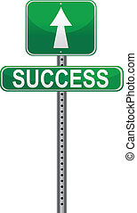 Success sign / Vector - Conceptual picture of life\'s paths....