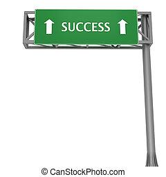 Success signboard