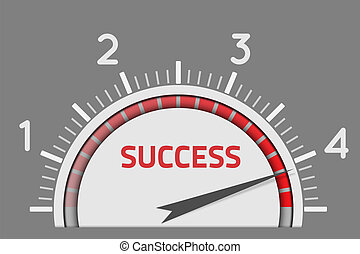 Success speedometer business concept