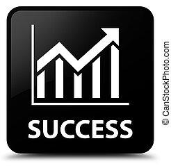 Success (statistics icon) black square button