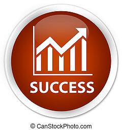 Success (statistics icon) premium brown round button