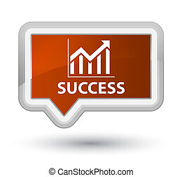 Success (statistics icon) prime brown banner button