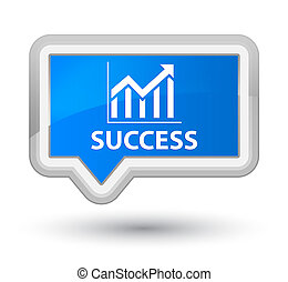Success (statistics icon) prime cyan blue banner button