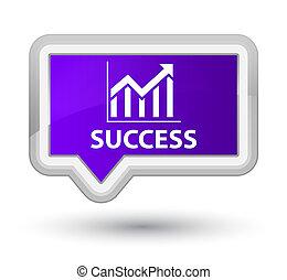 Success (statistics icon) prime purple banner button