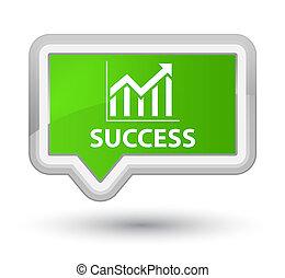 Success (statistics icon) prime soft green banner button