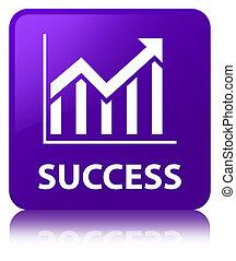 Success (statistics icon) purple square button