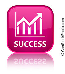 Success (statistics icon) special pink square button
