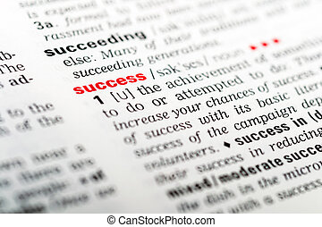 Success - Dictionary Definition Of The Word Success...
