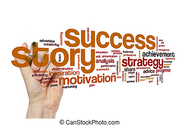 Success story word cloud