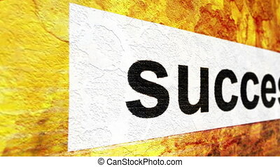 Success tag on grunge background