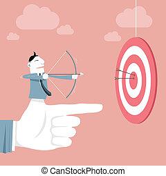 Success & Target - Vector illustration - Target & Success...