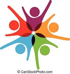 Success teamwork logo
