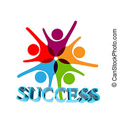 Success teamwork logo