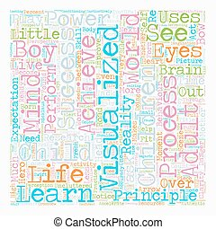 Success Through The Eyes Of A Child text background wordcloud concept
