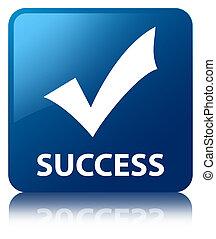 Success (validate icon) blue square button