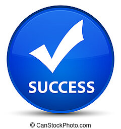 Success (validate icon) special blue round button