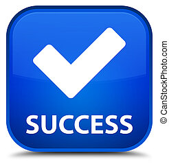 Success (validate icon) special blue square button
