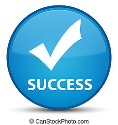 Success (validate icon) special cyan blue round button