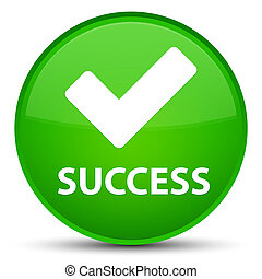 Success (validate icon) special green round button