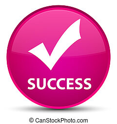 Success (validate icon) special pink round button
