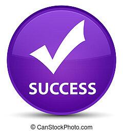 Success (validate icon) special purple round button