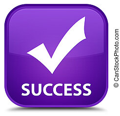 Success (validate icon) special purple square button