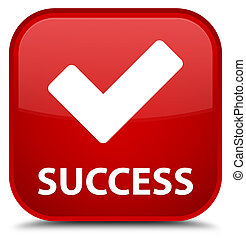Success (validate icon) special red square button