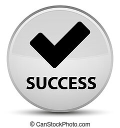 Success (validate icon) special white round button