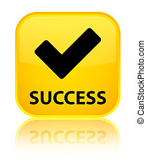 Success (validate icon) special yellow square button