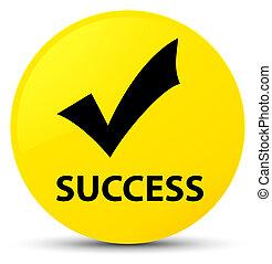 Success (validate icon) yellow round button