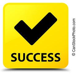 Success (validate icon) yellow square button