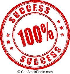 Success vector stamp