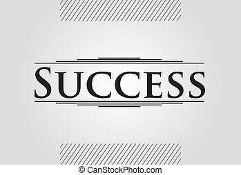 Success - vintage abstrac template