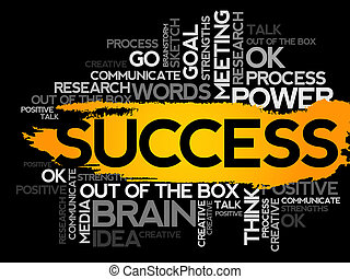 SUCCESS. Word business collage