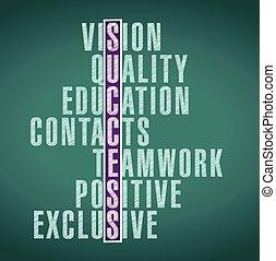 success word illustration design