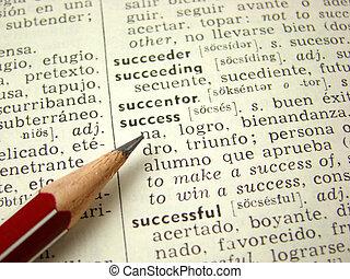 \\\'success\\\' word in dicti