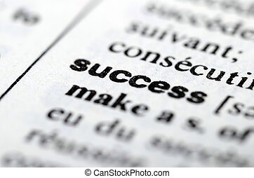 Success word in Dictionary, close up