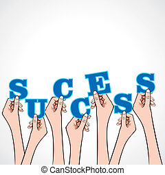 success word in hand