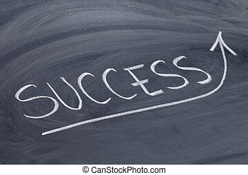 success word on blackboard