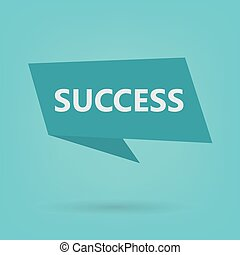 success word on sticker