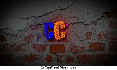 SUCCESS word revealing on a dark brick wall